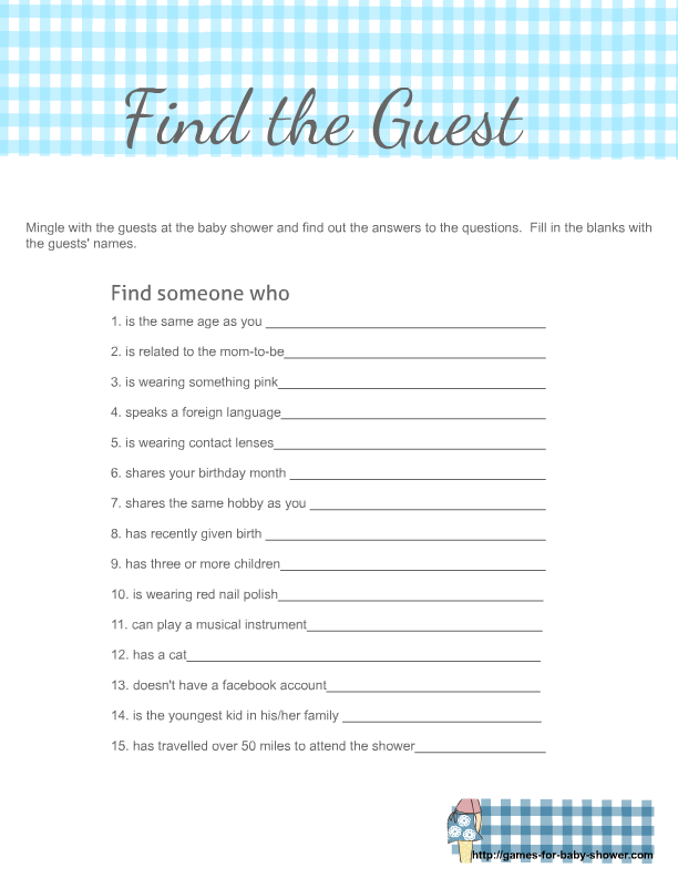 image regarding Picture Find Printable named Cost-free Printable Come across the Visitor Icebreaker Recreation