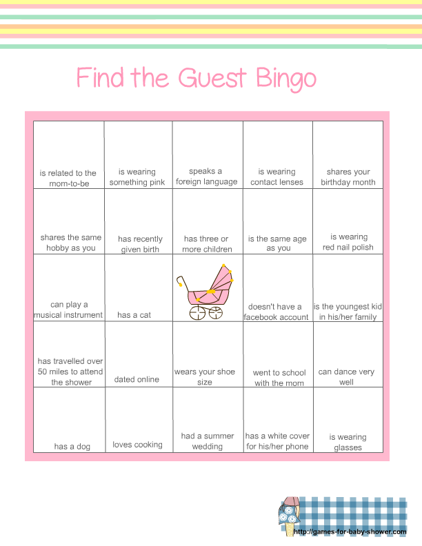 graphic relating to Musical Bingo Cards Printable named Absolutely free Printable child Shower Visitor Bingo Match