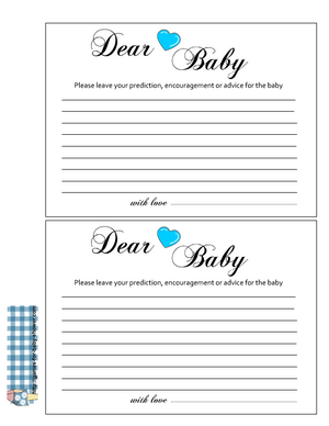 Free Printable advice for the baby cards