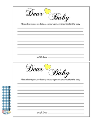 Advice for the baby cards printable free