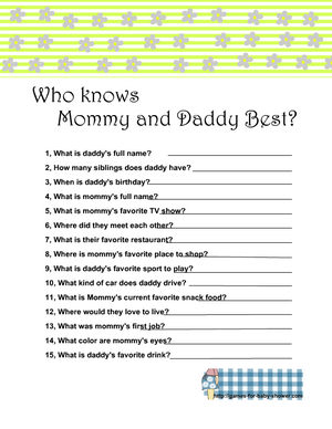 Free Printable who knows parents to be the best in green color