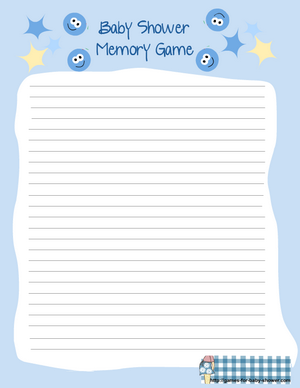 free printable for baby shower memory game in blue color
