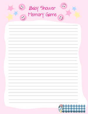 free printable for baby shower memory game in pink color