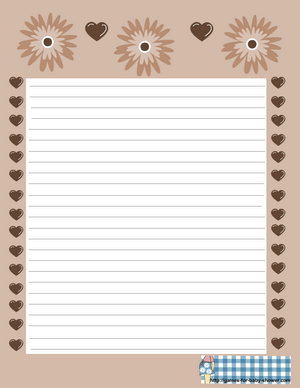 free printable baby shower stationery in brown color