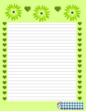free printable baby shower stationery in green color