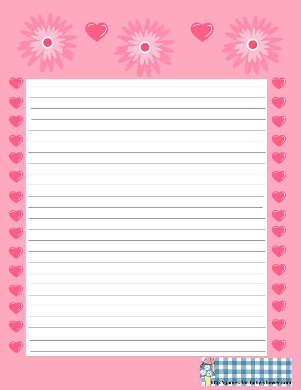 Free printable baby shower stationery free printable baby shower stationery in pink color pronofoot35fo Images