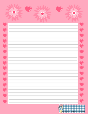 free printable baby shower stationery in pink color