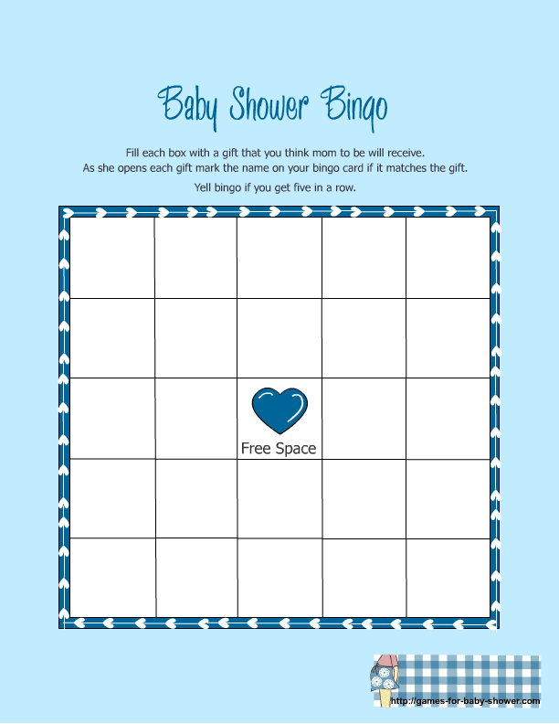 Free Printable Baby Shower Bingo 612 x 792