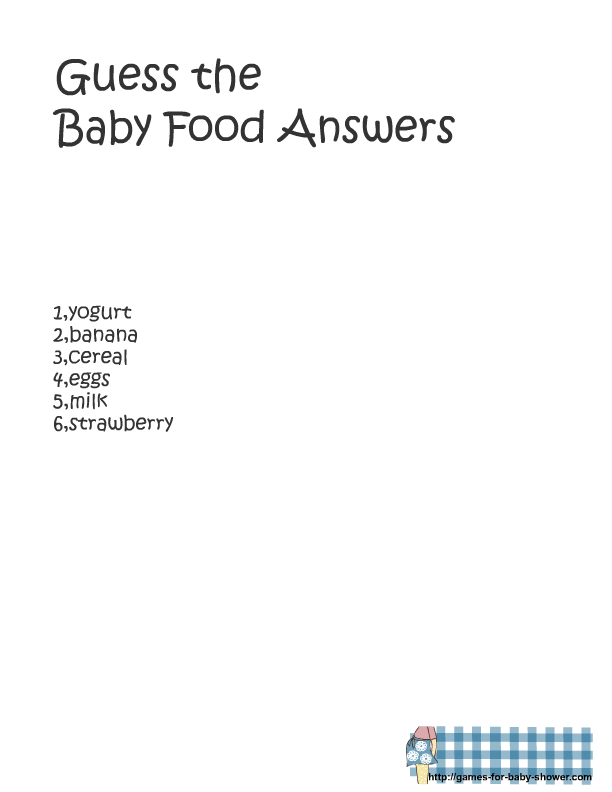 picture relating to Guess the Baby Food Game Free Printable named Totally free Printable little one Shower Bet the boy or girl Meals Activity