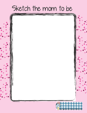 make a sketch of mom-to-be baby shower printable game in pink