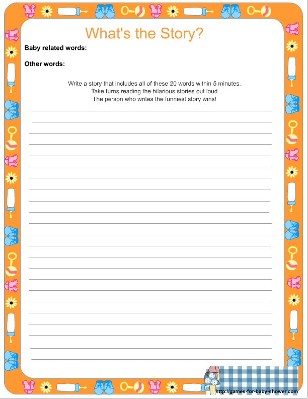 Captivating Click Here To Get This Free Printable Game Where You Can Write Your Own  Words.