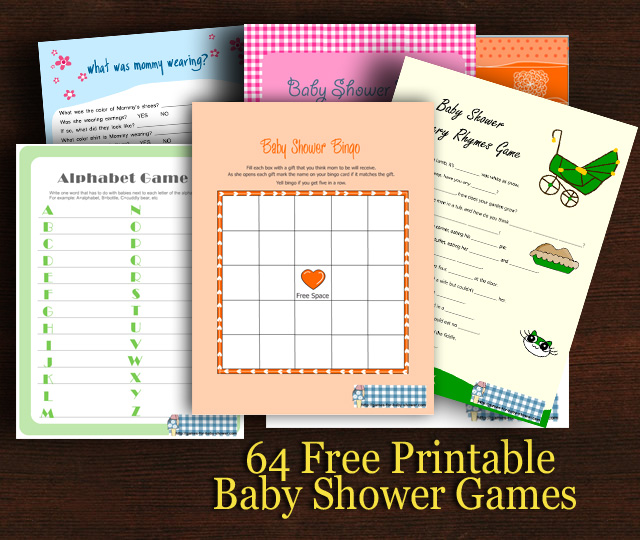 30 free printable baby shower games